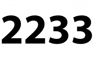22 h 33 :signification